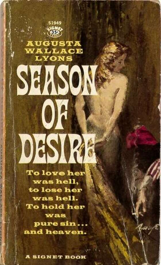 "The cover of the 1961 novel ""Season of Desire."" Photo: For The Telegraph"
