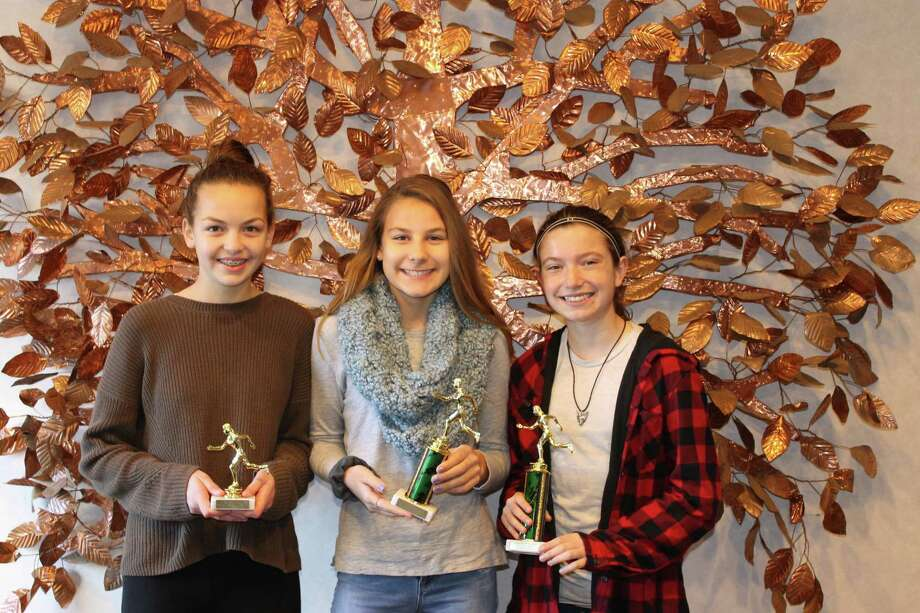 Independent Day School fall sport student winners include cross-country players Sabina Kovalik, Dava Dudek and Elise Kennedy. Photo: Contributed Photos