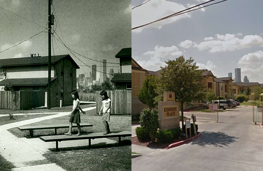 Then and nowA Houston Chronicle file photo from 1983 and a Google Earth streetview image show the Kennedy Place apartments.>>>See more photos showing Fifth Ward's history, and how the places appear today... Photo: Chronicle File/Google Earth