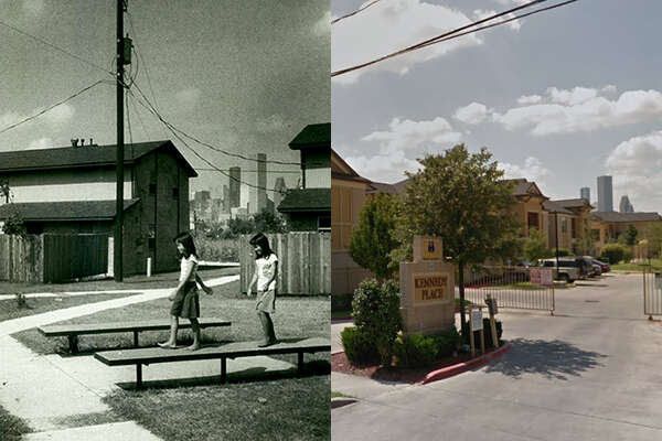Then and nowA Houston Chronicle file photo from 1983 and a Google Earth streetview image show the Kennedy Place apartments.>>>See more photos showing Fifth Ward's history, and how the places appear today...