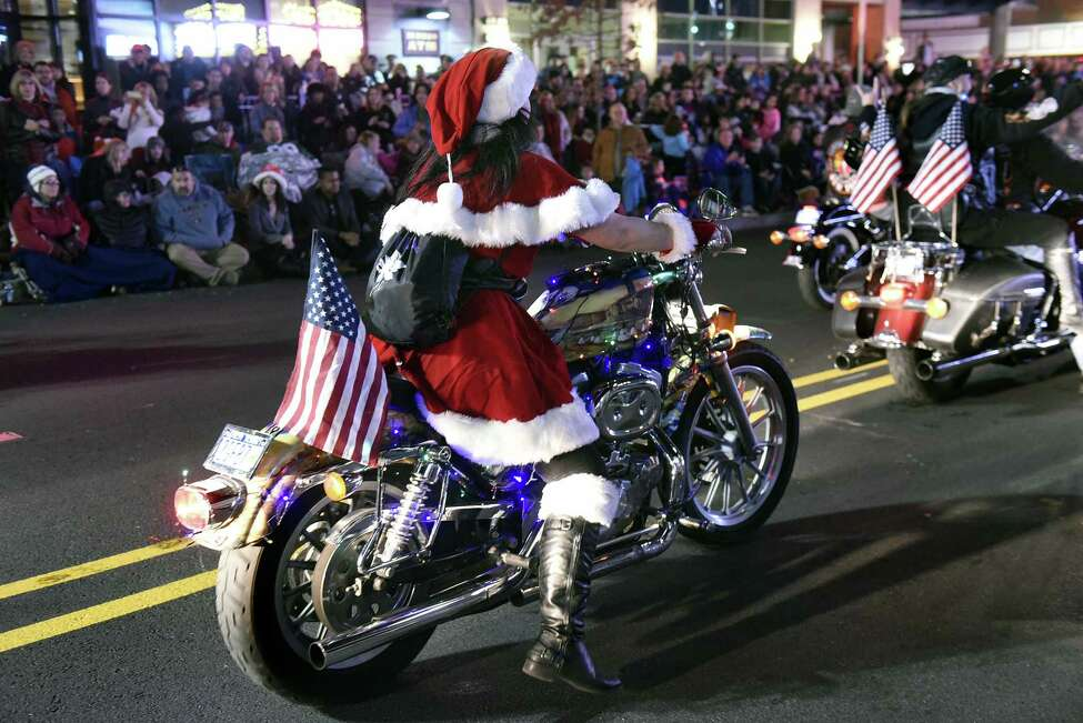 Mrs. Claus motorcycles down State Street during the annual Daily Gazette Holiday Parade on Saturday, Nov 19, 2016, in Schenectady, N.Y. (Cindy Schultz / Times Union)