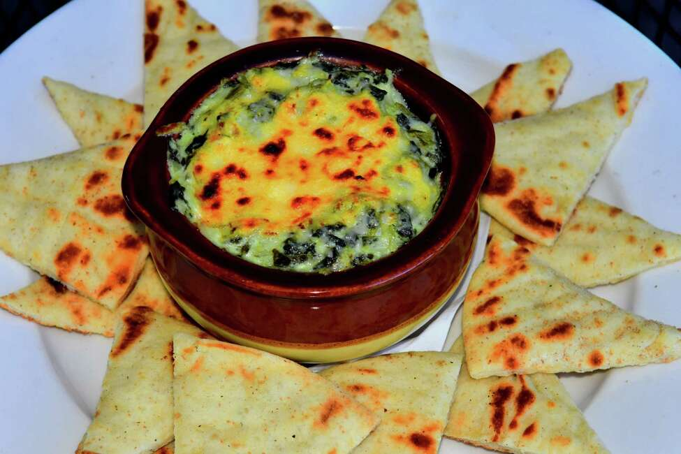 Spinach-artichoke dip at McGeary's Pub in Albany. (Steve Barnes/Times Union.)