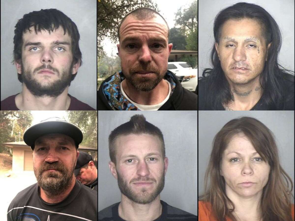 The Butte County Sheriff's Office has arrested six people on suspicion of looting on Nov. 13, 2018 in Paradise, Calif. after the Camp Fire wildfire.