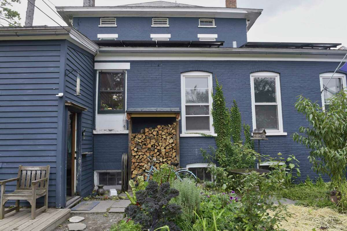 A view of the back of the home of Kate McKrell and Chris Hacker, on Wednesday, Oct. 17, 2018, in Albany, N.Y. The home is one of the homes on the Holiday Home Tour this year. (Paul Buckowski/Times Union)