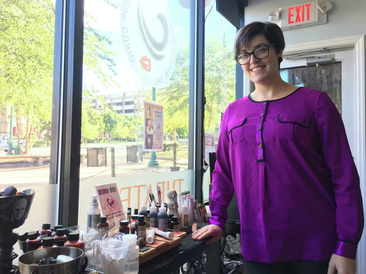 Jenn Dugan opened her specialty makeup store The Makeup Curio in downtown Schenectady last August. The store offers both beauty products, as and costume makeup. Dugan notes the location as the only of its kind in upstate New York. (Diego Mendoza-Moyers/Times Union)
