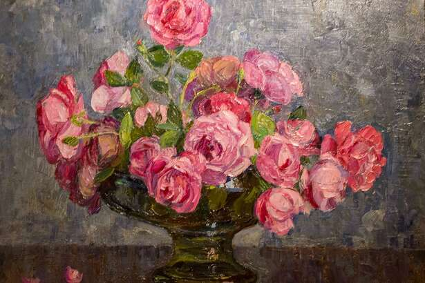 """""""Roses in Glass Bowl"""" by George Laurence Nelson"""
