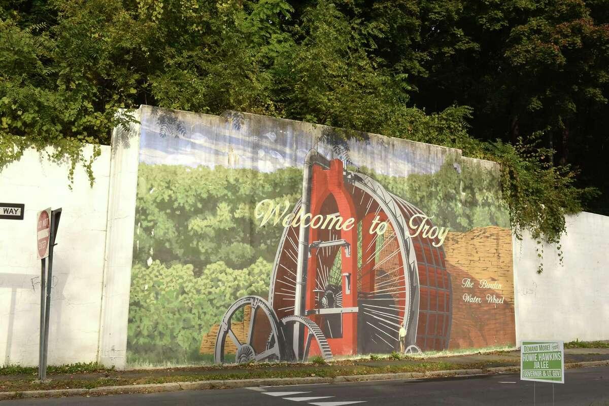 Mural on wall on Burden Ave. on Tuesday, Oct. 23, 2018 in Troy, N.Y. (Lori Van Buren/Times Union)