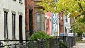 Homes on 3rd Street on Tuesday, Oct. 23, 2018 in Troy, N.Y. (Lori Van Buren/Times Union)