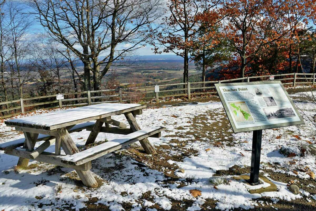 A dusting of snow at John Boyd Thacher State Park Wednesday Nov. 14, 2018 in Voorheesville, NY. (John Carl D'Annibale/Times Union)