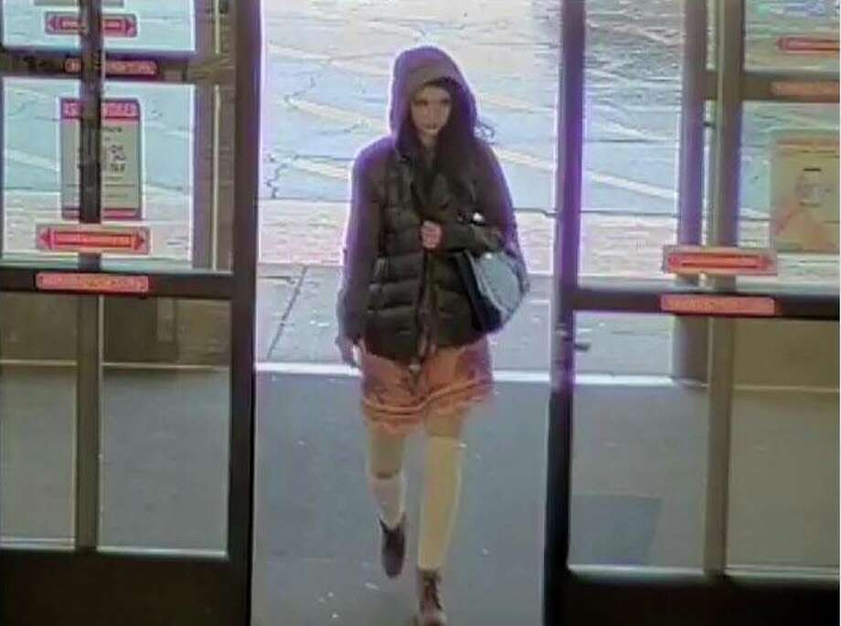 Surveillance footage captured a woman stealing approximately $150 of merchandise at Hobby Lobby. Photo: Midland Police Department