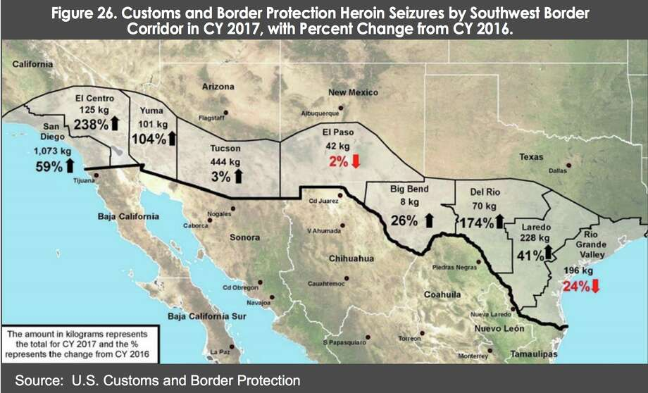 Map Of Texas Mexico.Maps Charts Show How Drugs Make Their Way Across The Border Into