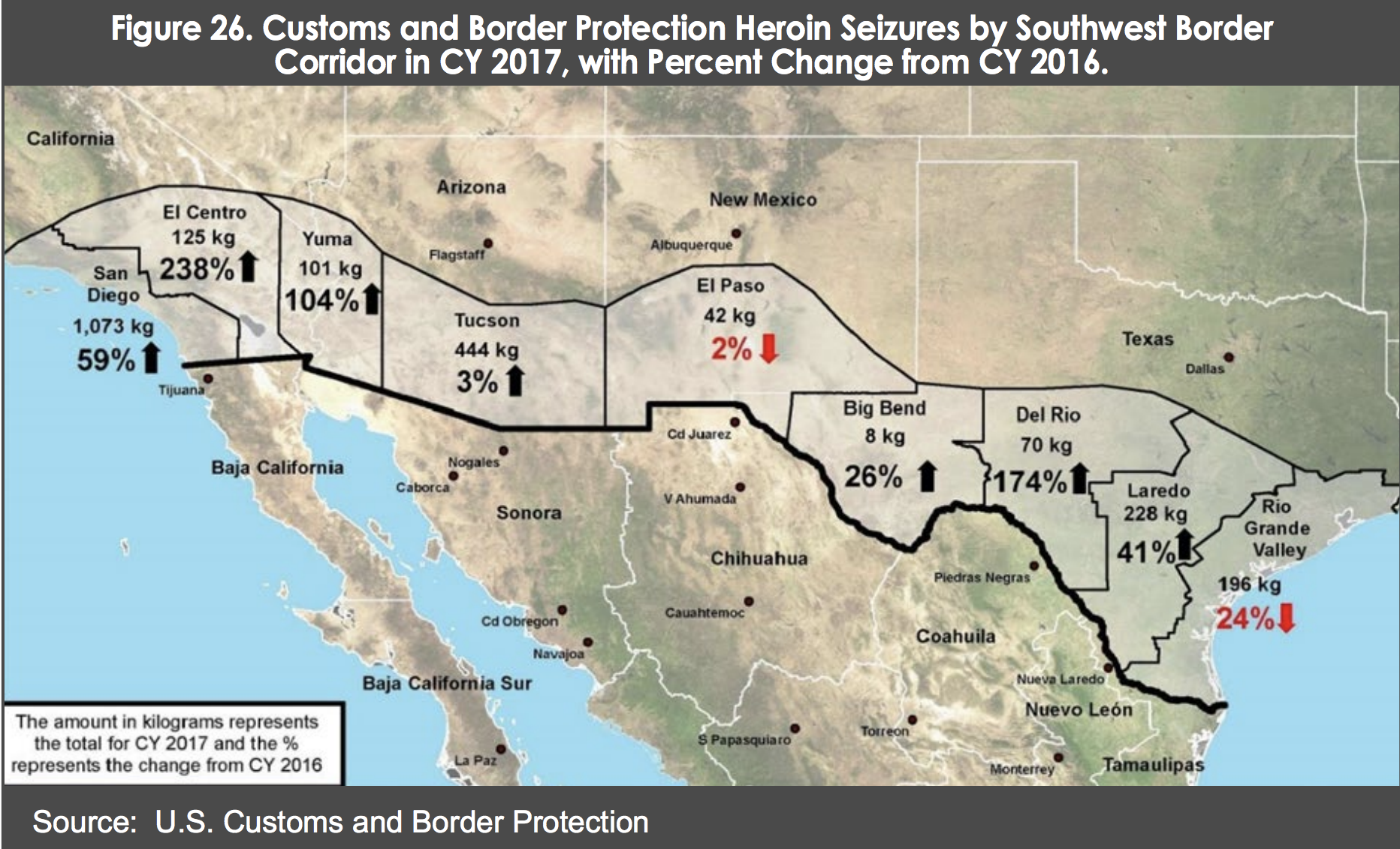 Map Of Texas Border Towns.Maps Charts Show How Drugs Make Their Way Across The Border Into