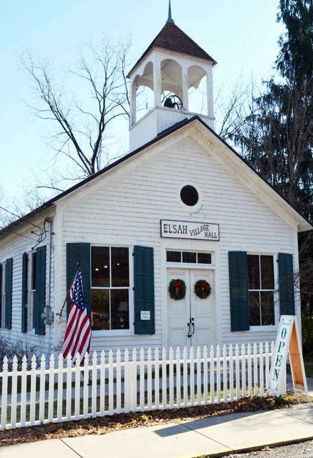 Stroll along the historic streets of Elsah during the village's annual Home for the Holidays event from noon to 4 p.m., Saturday, Dec. 1. A total of 18 historic buildings will be open for the event, including the village hall, pictured, as well as eleven homes, churches, village businesses and more. Photo: For The Intelligencer