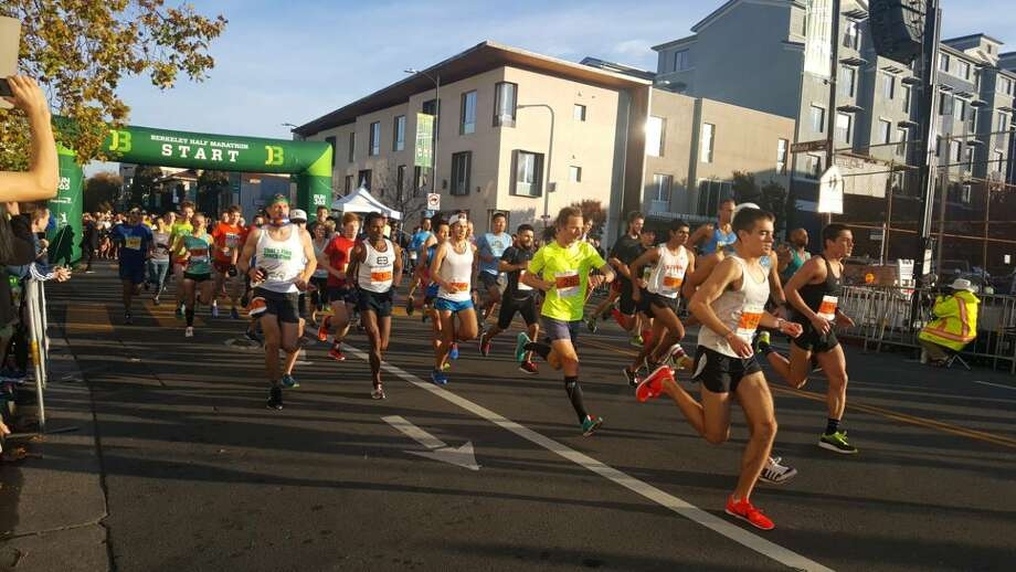Runners take part in the 2017 Berkeley Half Marathon. This year's race was canceled due to hazardous air conditions. Photo: Courtesy Trish Gervasio