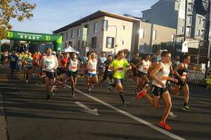 Runners take part in the 2017 Berkeley Half Marathon. This year's race was canceled do to hazardous air conditions.