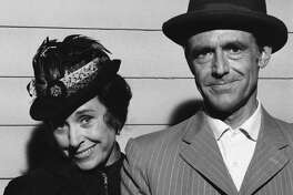 """Scottie MacGregor as Harriet Oleson, Richard Bull as Nels Oleson in """"Little House on the Prarie."""""""