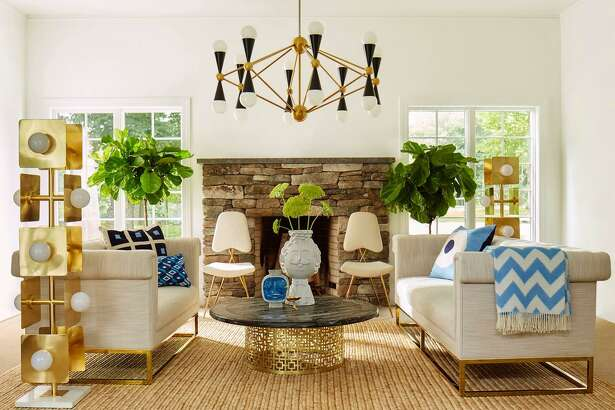 Jonathan Adler design favors bright colors and shiny objects.