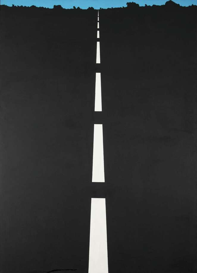 "Allan D'Arcangelo 1965 work ""Highway (NYC)"" hangs at the Housatonic Museum. Photo: Contributed Photo"