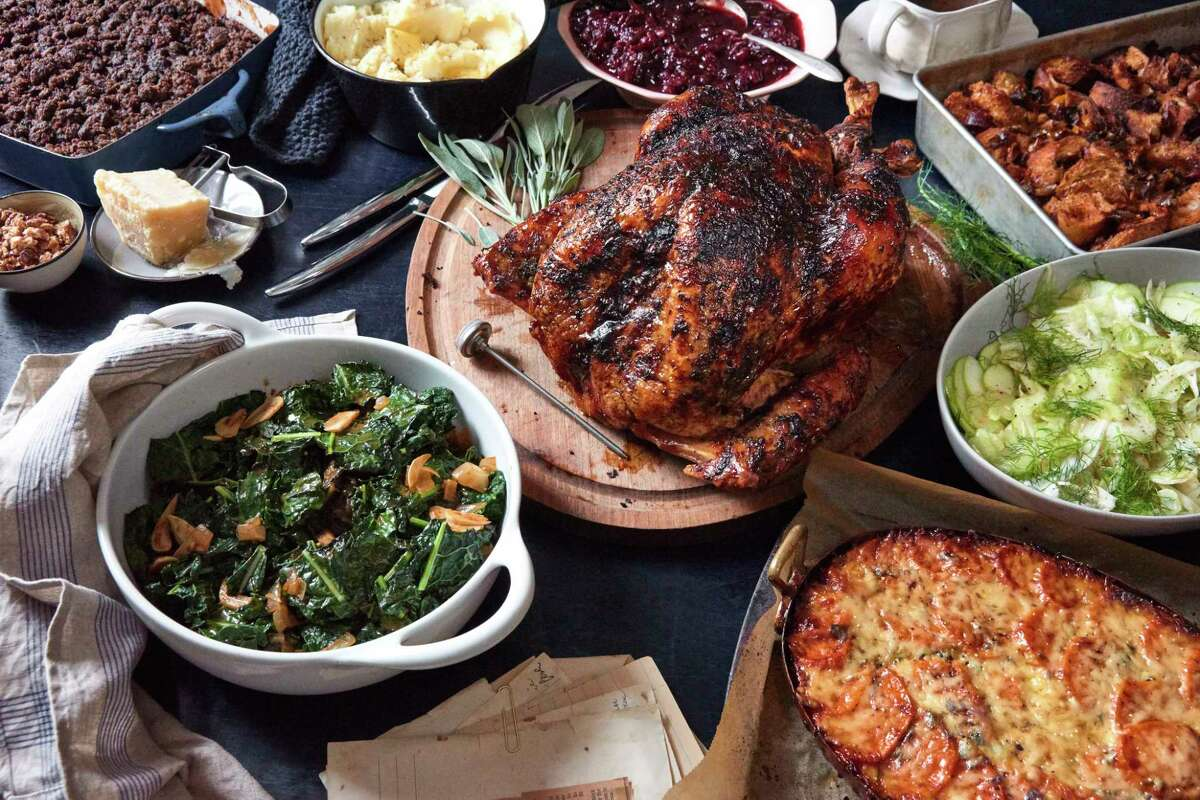 A bountiful Thanksgiving table.