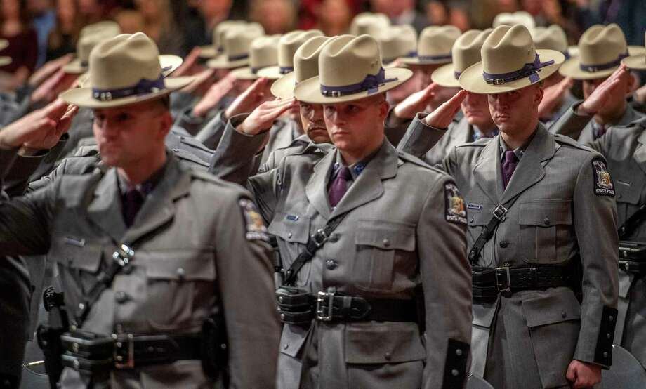 The recently adopted state budget requires law enforcement agencies to document instances when officers use force in the line of duty, including brandishing or discharging a firearm, applying chokeholds, displaying or deploying pepper spray and utilizing a baton. Photo: SKIP DICKSTEIN, Albany Times Union / 40045474A