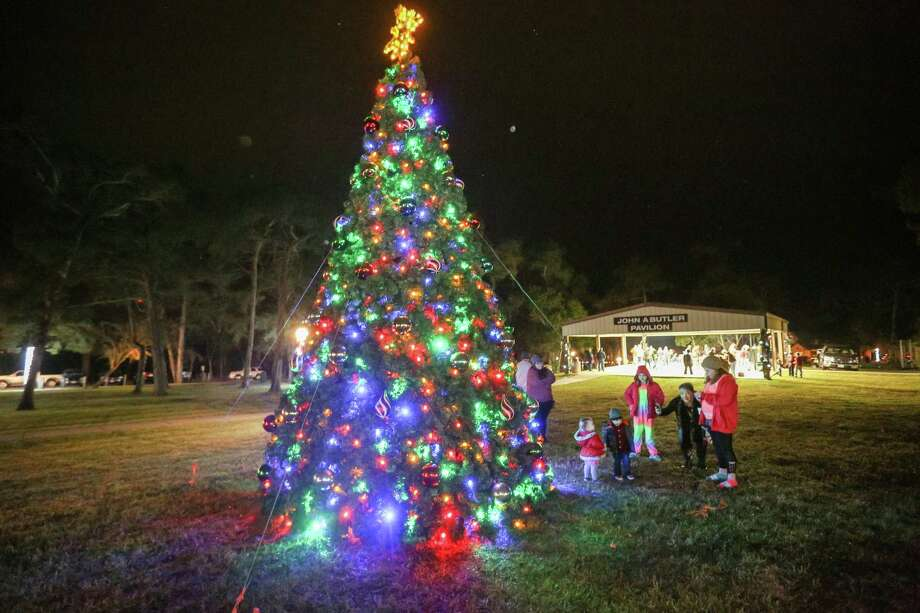 The City of Montgomery and the Civic Club are kicking off the Christmas season with a light pole decorating contest at Cedar Break Park. Photo: Michael Minasi, Staff Photographer / Houston Chronicle / © 2017 Houston Chronicle