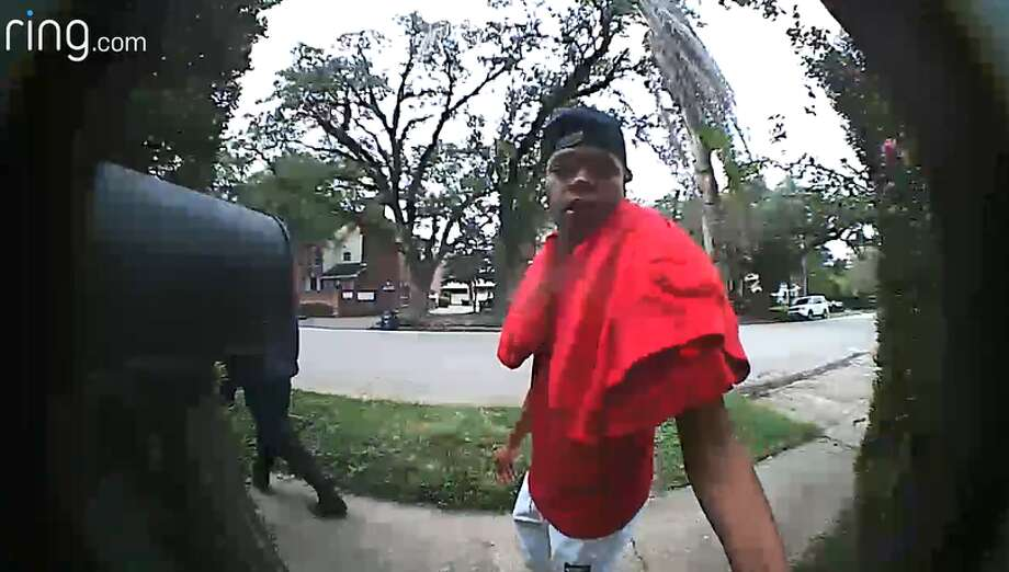 These three men were caught on video stealing packages from Houston area homes in November. Do you recognize them ? Photo: Ring