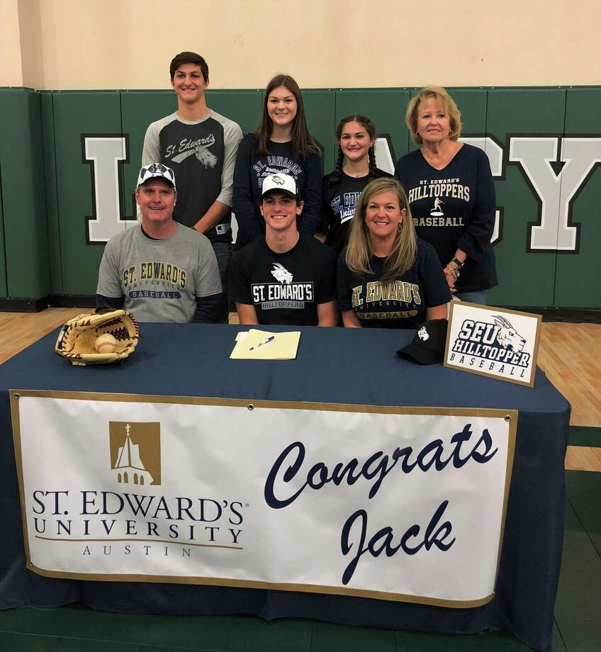 Legacy Prep's Jack Granack signed to play baseball at St. Edward's University on Wednesday afternoon. Photo: Submitted Photo