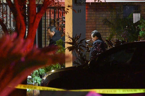 Authorities investigate the scene of an officer-involved shooting on Tuesday, Nov. 13, 2018 in the 100 block of Horizon Loop. A man was shot after he refused to drop an ax, police said.