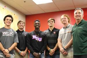 Baseball players from The Woodlands made their college commitments official on Wednesday, Nov. 14, 2018.
