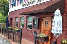 The Georgetown Saloon on Main Street in Redding, Conn., after closing for the third time in four years. The space is being readied for a new venture as of November 2018.