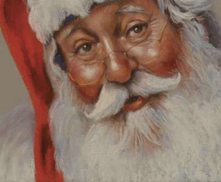 "A pastel painting by Betty James titled ""St. Nick,"" which is currently on display at the Conroe Art League's Gallery at the Madeley Building."