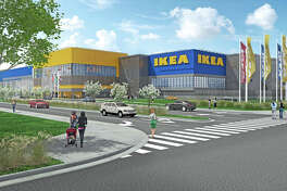 """Last week, Dublin City Council approved plans for a 317,000-sq.-ft. IKEA store off I-580 and Hacienda Dr. Construction is slated to begin in April 2020. About 60 percent of the lot will be occupied by a 93,000-square-foot """"lifestyle center,"""" which will include restaurants, shops and other storefronts."""