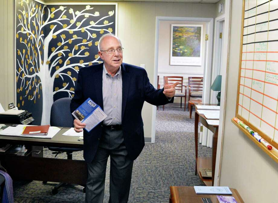 CDRC president Barry Levine gives a tour of their new Capital District Recovery Center on Colvin Avenue Wednesday Nov. 14, 2018 in Albany, NY. CDRC is a safe and accessible place for people seeking recovery from addictions, hosting 12 step meetings, supports and programs for self-improvement.  (John Carl D'Annibale/Times Union) Photo: John Carl D'Annibale, Albany Times Union / 40045481A