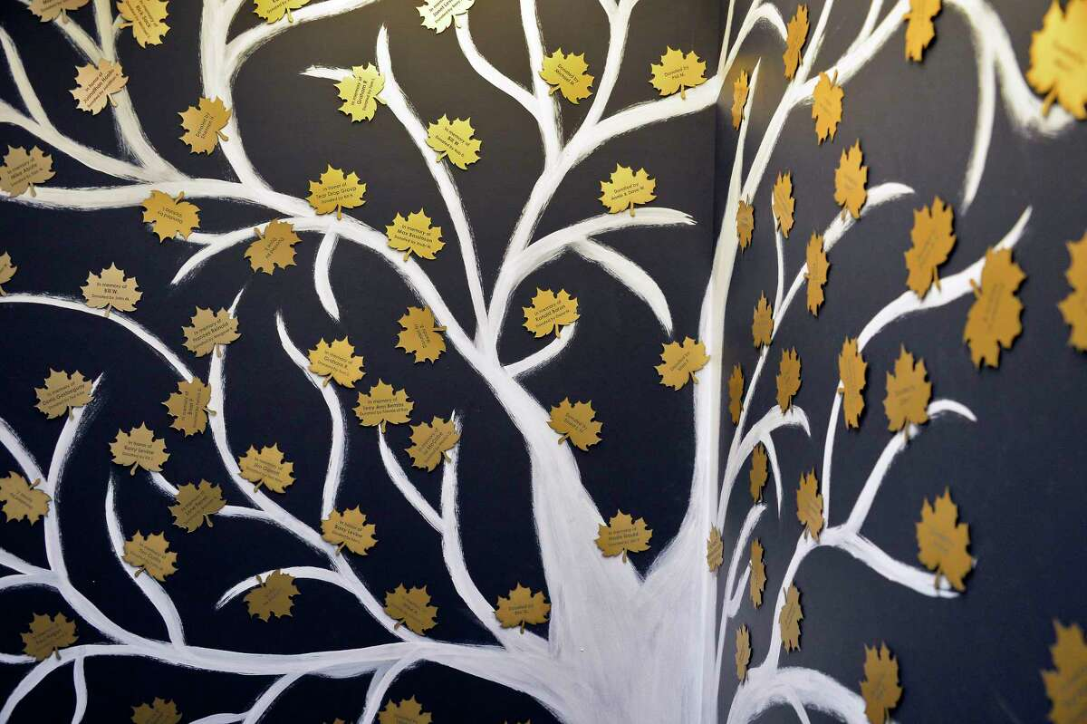 The Tree of Life pays tribute to donors at the new Capital District Recovery Center on Colvin Avenue Wednesday Nov. 14, 2018 in Albany, NY. CDRC is a safe and accessible place for people seeking recovery from addictions, hosting 12 step meetings, supports and programs for self-improvement. (John Carl D'Annibale/Times Union)