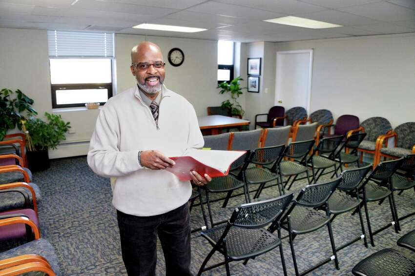 CDRC vice president Jihad El-Amin in one of the meeting rooms at the new Capital District Recovery Center on Colvin Avenue Wednesday Nov. 14, 2018 in Albany, NY. CDRC is a safe and accessible place for people seeking recovery from addictions, hosting 12 step meetings, supports and programs for self-improvement. (John Carl D'Annibale/Times Union)