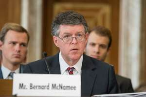 Bernard McNamee, President Donald Trump's nominee for the Federal Energy Regulatory Commission, testified before the Senate in July.