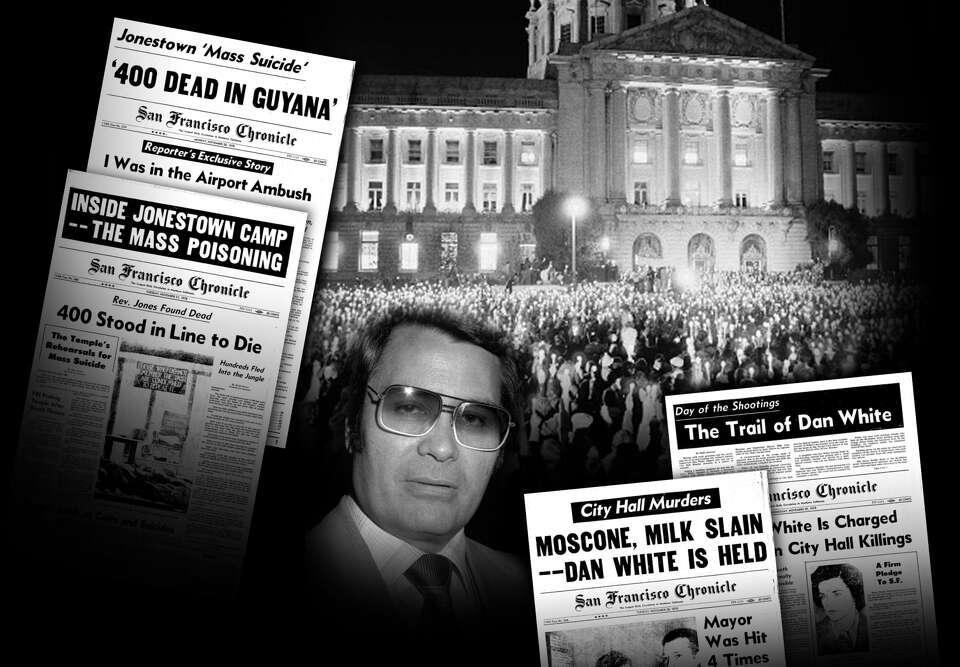 Image result for Jonestown Milk Moscone murders San Francisco