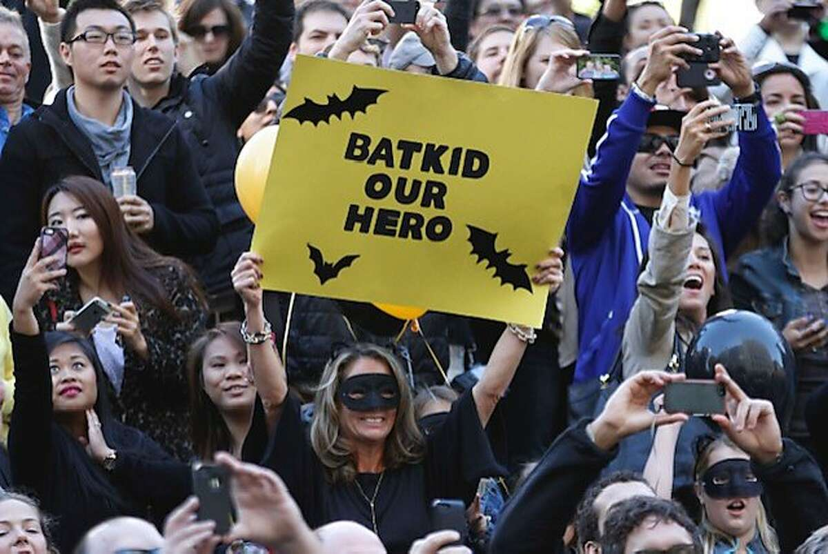 On Nov. 15, 2013, San Francisco history was made when 5-year-old Miles Scott was granted his dream to become 'Batkid' by the Make-a-Wish Foundation. Thousands of people came out to the streets to cheer Miles on as he played out the role of a superhero. Miles is now 10 years old and cancer free.
