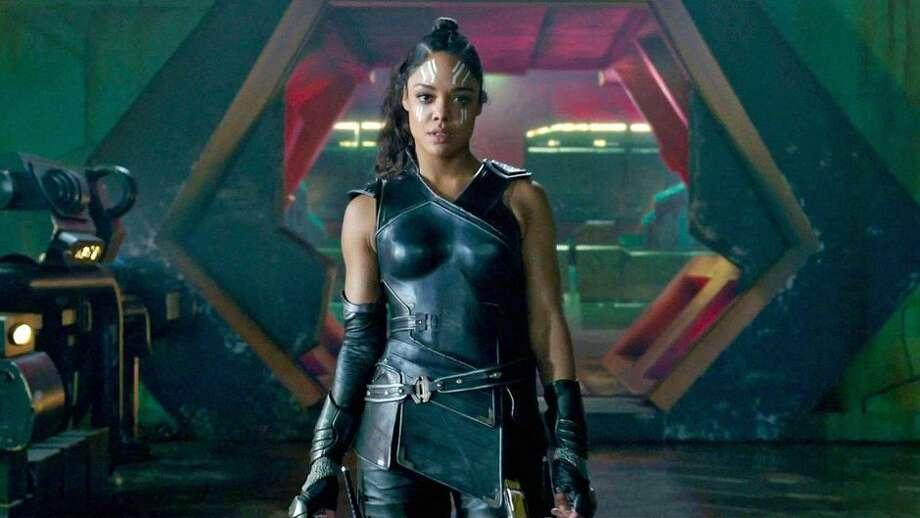 Tessa Thompson played a Valkyrie warrior in the 2017 movie Thor: Ragnarok. Photo: Marvel