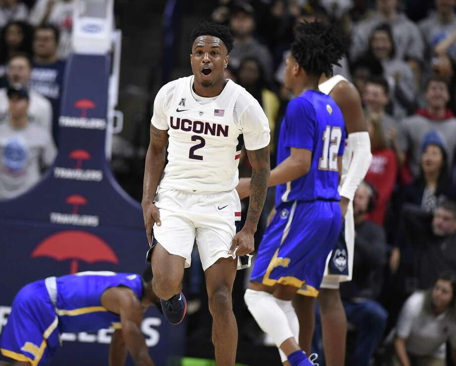 UConn's Tarin Smith has provided an offensive spark off the bench for the Huskies so far this season. Photo: Jessica Hill / Associated Press / Copyright 2018 The Associated Press. All rights reserved