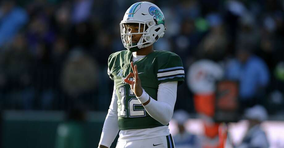 NEW ORLEANS, LA - NOVEMBER 10: Justin McMillan #12 of the Tulane Green Wave reacts during the first half against the East Carolina Pirates at Yulman Stadium on November 10, 2018 in New Orleans, Louisiana.  (Photo by Jonathan Bachman/Getty Images) Photo: Jonathan Bachman/Getty Images