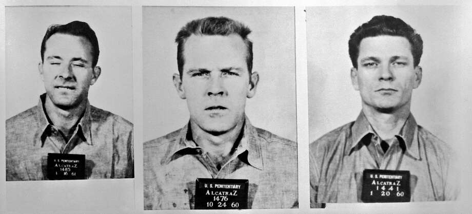 Mug shots of three prisoners that made a rare escape from Alcatraz Island. From left to right: Clarence Anglin, John William Anglin, and Frank Lee Morris. Photo: Bettmann, Bettmann Archive