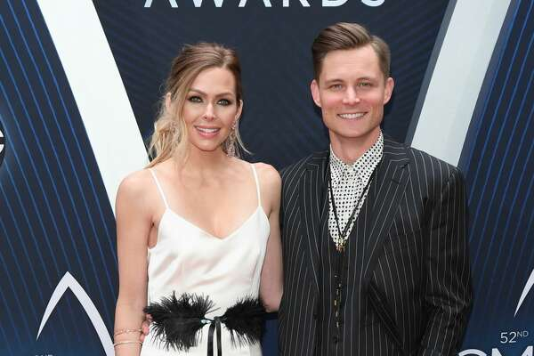 NASHVILLE, TN - NOVEMBER 14: (FOR EDITORIAL USE ONLY) Christina Murphy and singer-songwriter Frankie Ballard attend the 52nd annual CMA Awards at the Bridgestone Arena on November 14, 2018 in Nashville, Tennessee. (Photo by Jason Kempin/Getty Images)