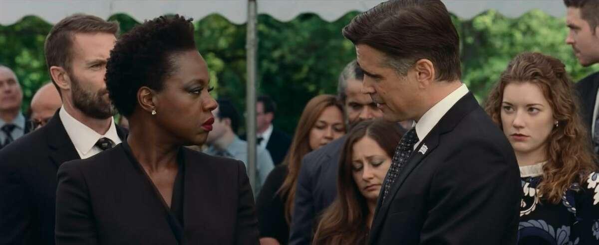 Viola Davis and Colin Farrell in 'Widows'