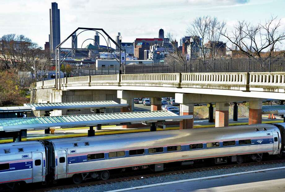 An Empire Service train arrives at the Amtrak station Wednesday Nov. 14, 2018 in Rensselaer, NY.   (John Carl D'Annibale/Times Union) Photo: John Carl D'Annibale