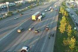A lost load of lumber has closed several lanes of I-10 westbound at Mercury on Thursday, Nov. 15, 2018.