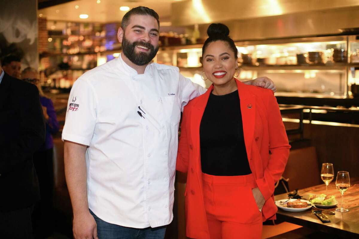 Chef E.J. Miller and Ayesha Curry at the grand opening of International Smoke at CityCentre on Wednesday, November 14, 2018. The Houston location of the restaurant chain has permanently closed.