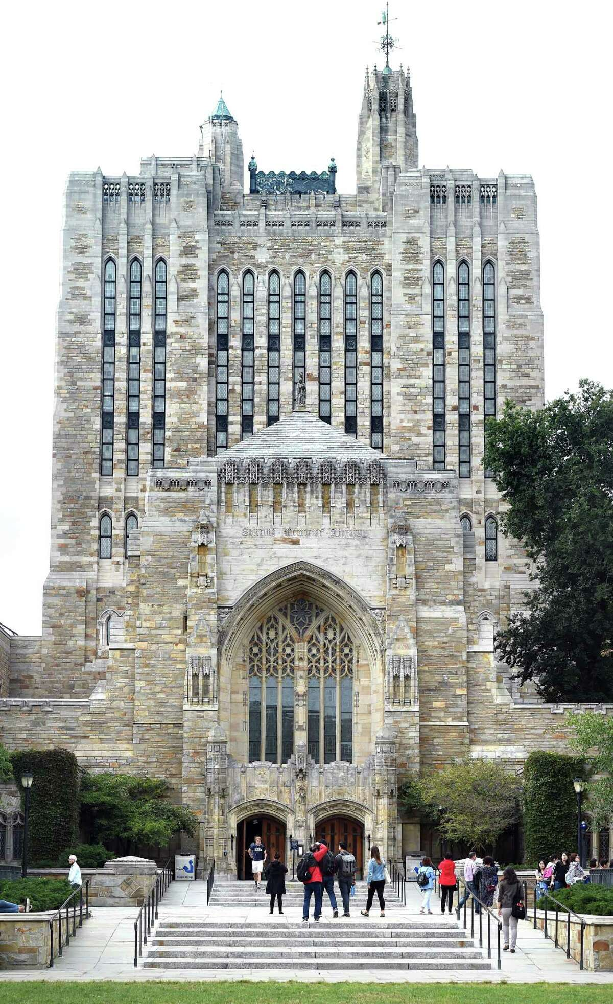 The Sterling Memorial Library at Yale University in New Haven.