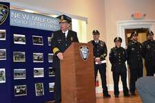 Spencer Cerruto was sworn in as the new police chief in New Milford on Nov. 14, 2018.