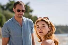 """Florence Pugh stars as Charlie opposite Alexander Skarsgard as Becker in the new AMC miniseries """"The Little Drummer Girl."""""""